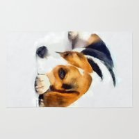 beagle Area & Throw Rugs featuring Beagle Bailey by MadDog
