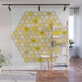 Honeycomb of Honey Bees Wall Mural