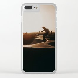 Venice beach skateboarder Clear iPhone Case