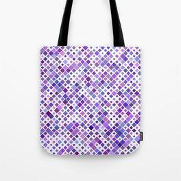 Purple Squared Tote Bag