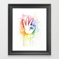 Tight Rainbow Framed Art Print