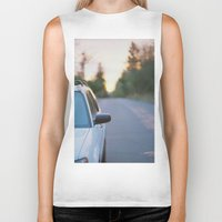 subaru Biker Tanks featuring Sunrise by MICHAEL