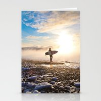 surfer Stationery Cards featuring Surfer by joshuaveldstra