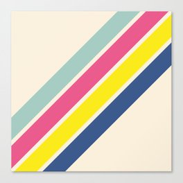 4 Retro Stripes #1 Canvas Print