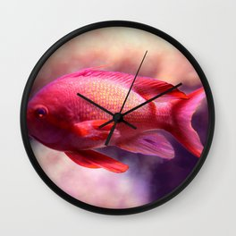 Red Fish Wall Clock