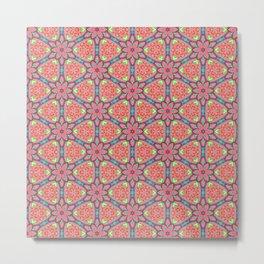 Origami Flowers, surface pattern Metal Print