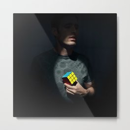 The distinguished gentleman with a cube heart Metal Print