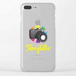 photography camera storyteller, camera, photographer gifts, storyteller Clear iPhone Case