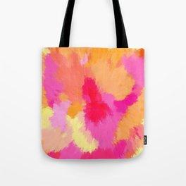 Pink, Orange and Yellow Watercolors Tote Bag