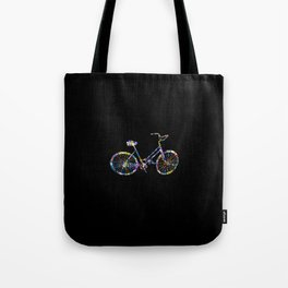Rainbow BikeRiding Lover Gift Idea Tote Bag