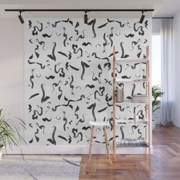 Abstract Ink Mark Making Pattern Wall Mural
