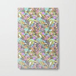 50s psychedelic mushrooms Metal Print