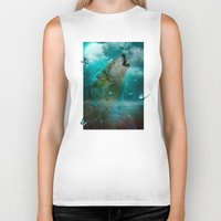hobbes Biker Tanks featuring I'll See You In My Dreams (Cry of the Wolf) by soaring anchor designs