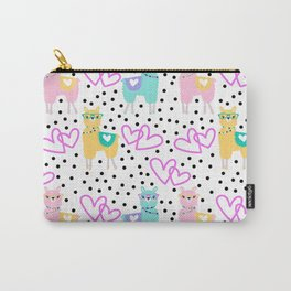 Valentine's Day Llamas Carry-All Pouch