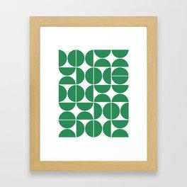 Mid Century Modern Geometric 04 Green Framed Art Print