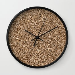 Wheat. Background. Wall Clock