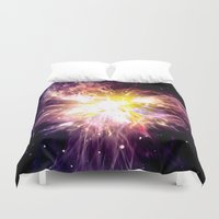 the shining Duvet Covers featuring SHINING STAR. by capricorn