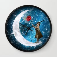 little prince Wall Clocks featuring The Little Prince by Diogo Verissimo