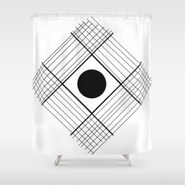 Interlaced Lines Shower Curtain