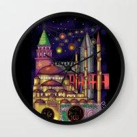 istanbul Wall Clocks featuring Istanbul  by Aleksandra Jevtovic