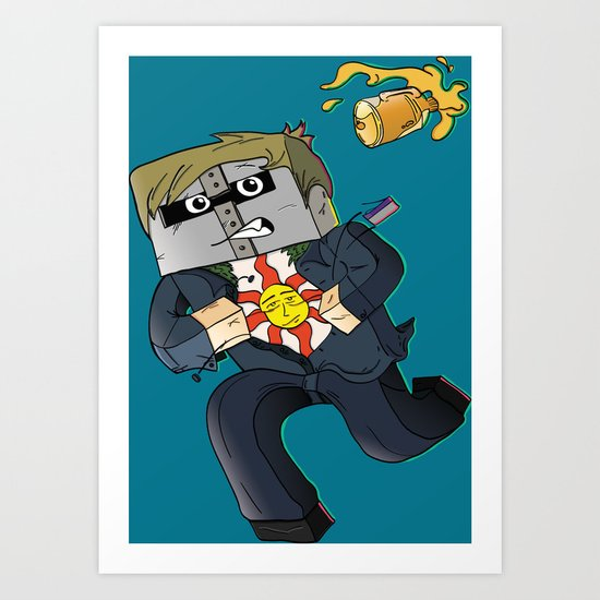 Solaire of Block - Minecraft Avatar Art Print