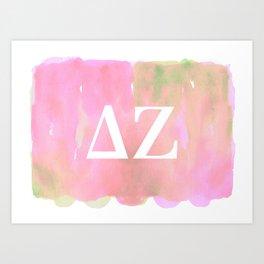 Delta Zeta -- ΔΖ Art Print