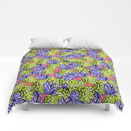 Pineapples on Pink Comforters