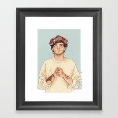 Tommo Flower crown Framed Art Print