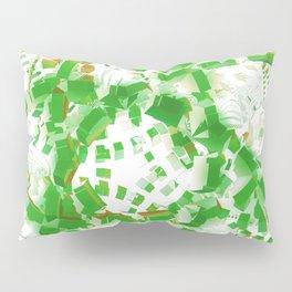 Green industrial abstract Pillow Sham