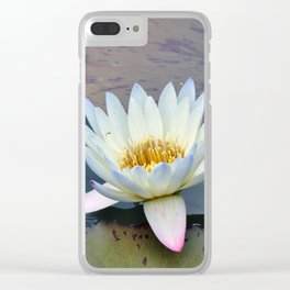 Water Lily in Pond Clear iPhone Case