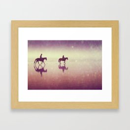Beach heaven Framed Art Print