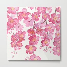 Weeping Cherry Blossom Metal Print