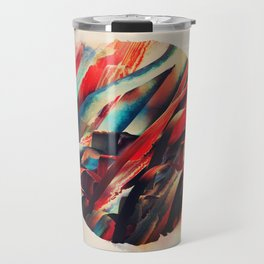 64 Watercolored Lines Travel Mug