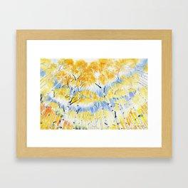 Under the Birch Forest Framed Art Print