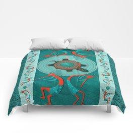 Visitors Anasazi Folk Art Comforters