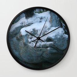 Snow On Rino Wall Clock