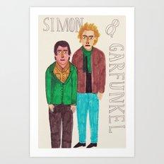 Simon & Garfunkel Art Print