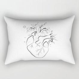 Human heart with flowers Rectangular Pillow