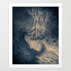 Dark portrait II  (colour option) Art Print