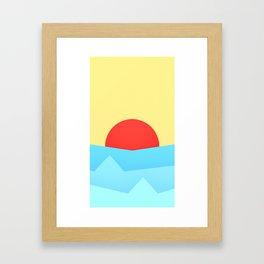Childish Sunset Framed Art Print