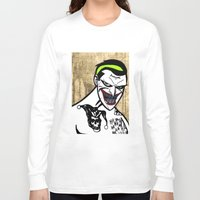 jared leto Long Sleeve T-shirts featuring Mark Hamill + Jared Leto = The Joker by VanBof