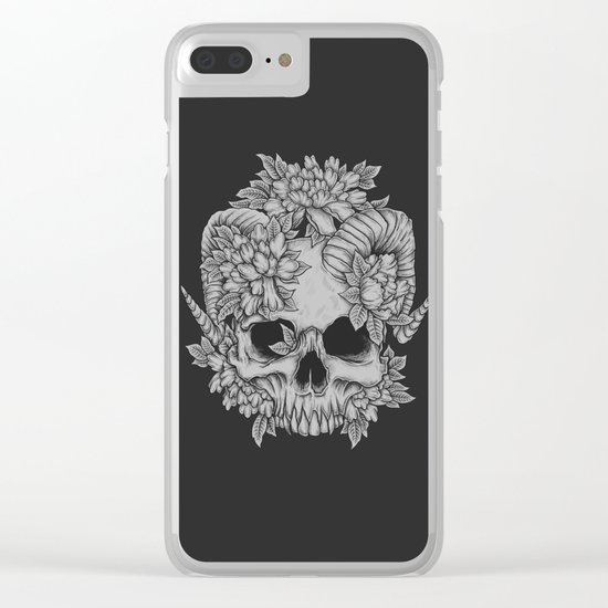 Japanese Skull Clear iPhone Case