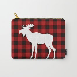 White Moose | Red Buffalo Plaid Carry-All Pouch