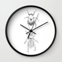 June Beetles Wall Clock