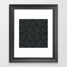 Ab Lace Black and Grey Framed Art Print