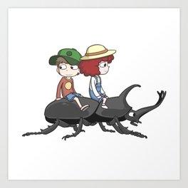 Beetle ride Art Print