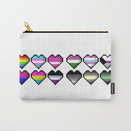Various Pride Pixel Hearts Carry-All Pouch