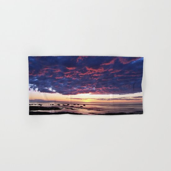 Textured Clouds at Sunset Hand & Bath Towel