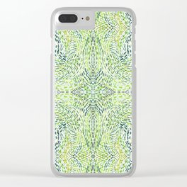 """""""And Then Again, """" in Green Multicolor Clear iPhone Case"""