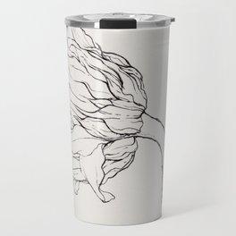 Sunflower Ink Illustration Light Travel Mug